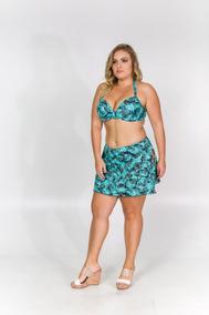 b1e92ad1ad7ddb Biquini Sukini Estampado Plus Size Com Bojo Com Saia