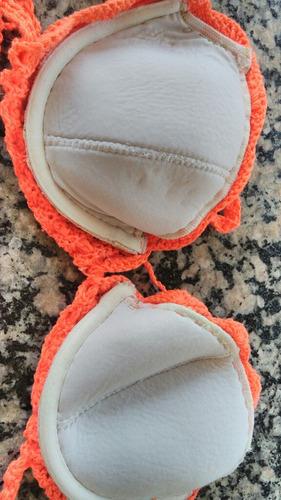af9498e8b biquini¿ sutia 42 m coral laranjcroche bojo estruturado novo. Carregando  zoom.