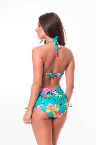 biquíni top inteiro plus size e sunkini plus size tropical