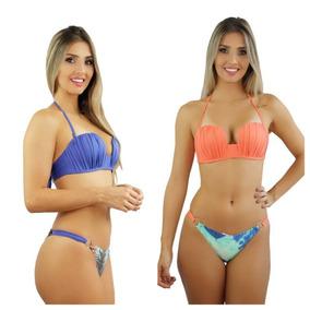 95100f571 Biquine+de+croche+moda+praia+blogueira+tendencia Tamanho M ...