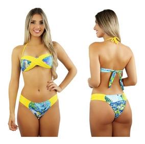 2ad0c7255b2e Biquini Baratos Biquinis Mulher - Moda Praia com o Melhores Preços no Mercado  Livre Brasil