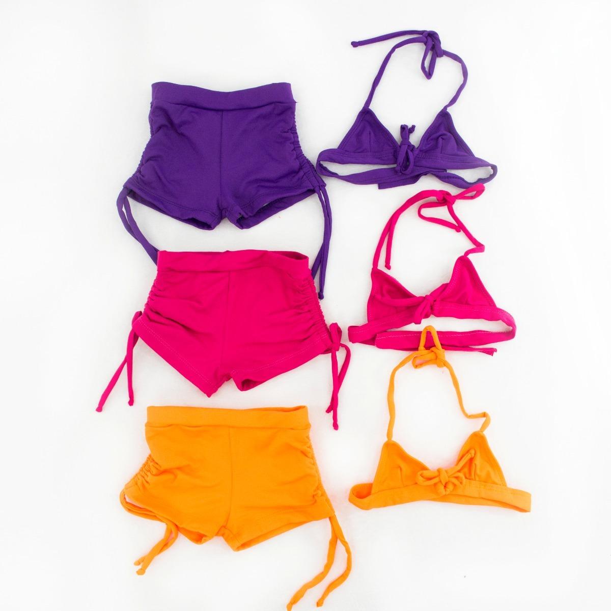 9c73c7ced648 Biquínis Infantis Bionda (shorts) Inf. 007 - R$ 40,00 em Mercado Livre