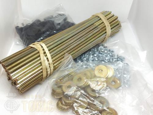 birlo para lamina 3/16 x 4  c/accesorios (100 piezas)