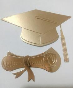 Birrete Y Diploma P Invitacion Graduación 100 Sets