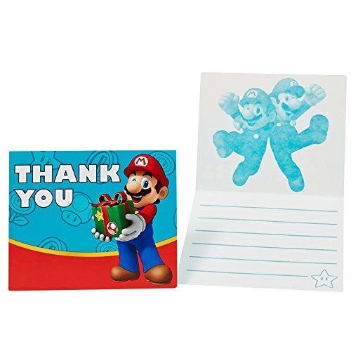 birthdayexpress super mario party supplies  thankyou notes (