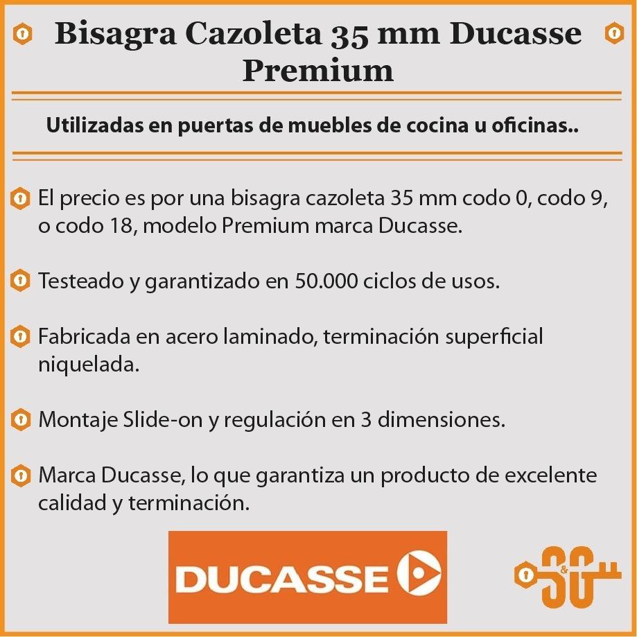Bisagra 35 Mm Puerta Mueble Cocina Ducasse Premium 50.000cls - $ 31 ...