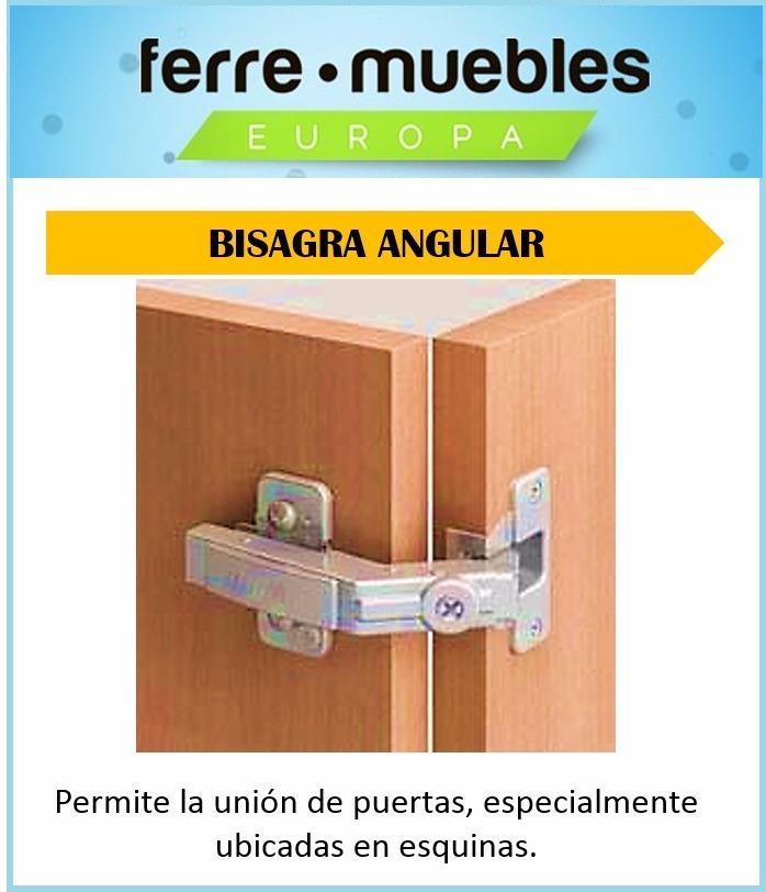 Bisagra Angular Para Muebles De Esquina Cocinas Closets - Bs. 5.950 ...