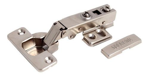 bisagra bidimensional 35mm brazo recto pistón soprano