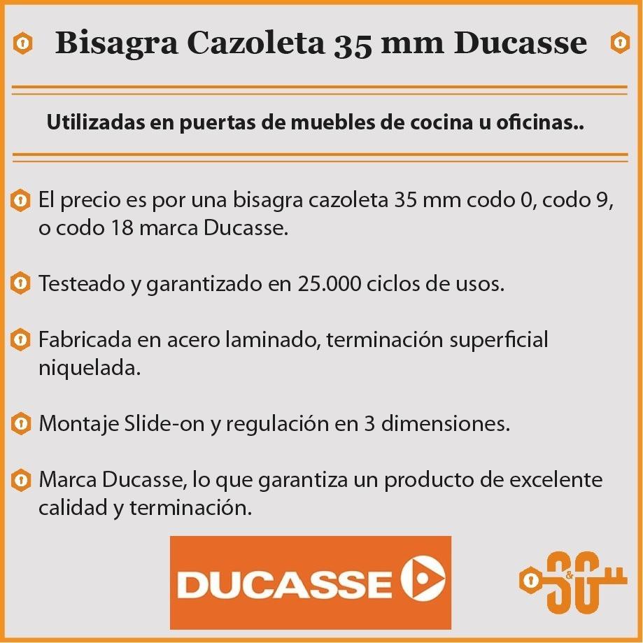 Bisagra Cazoleta 35 Mm Ducasse Std Puerta Mueble Cocina - $ 9,00 en ...