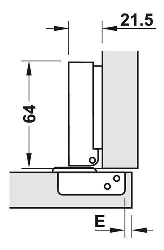 bisagra cierre suave cazoleta 35 mm codo 0 puerta hafele