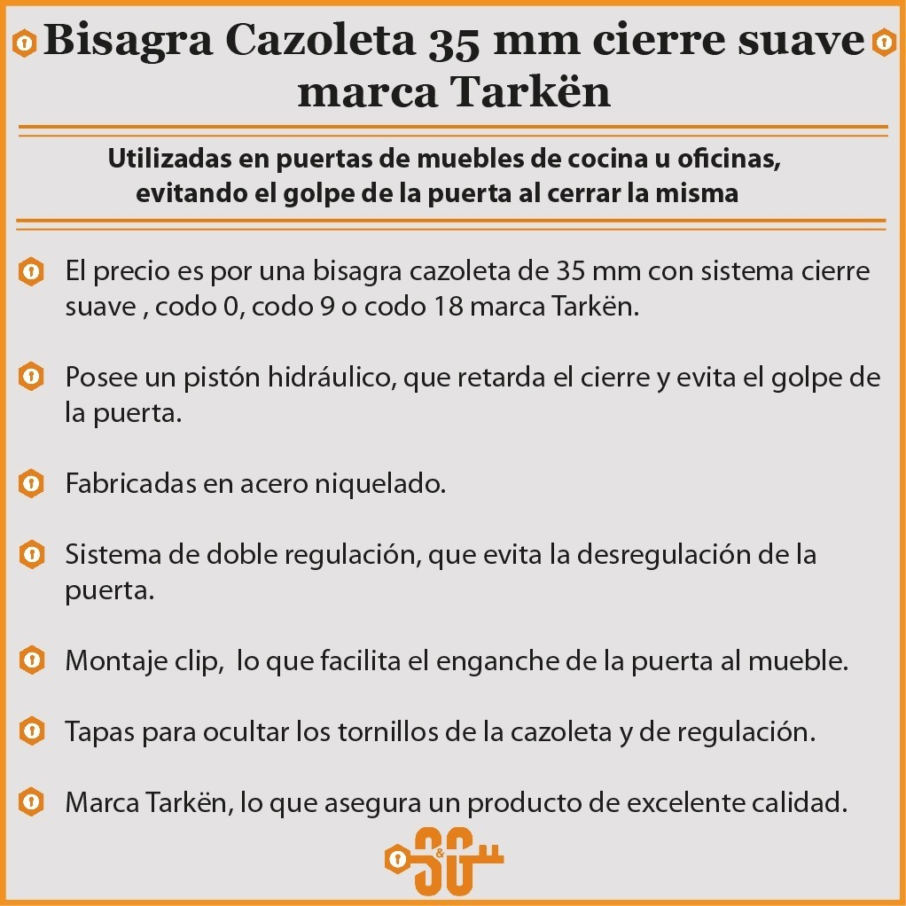 Bisagra Cierre Suave Puerta Mueble Cocina 35 Mm Clip - $ 48,00 en ...