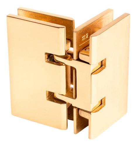 bisagra cristal-cristal a 90 grados crlaurence dorado