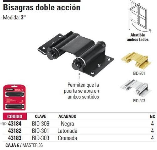 Bisagra doble accion negra hermex 43184 en - Bisagras de doble accion ...