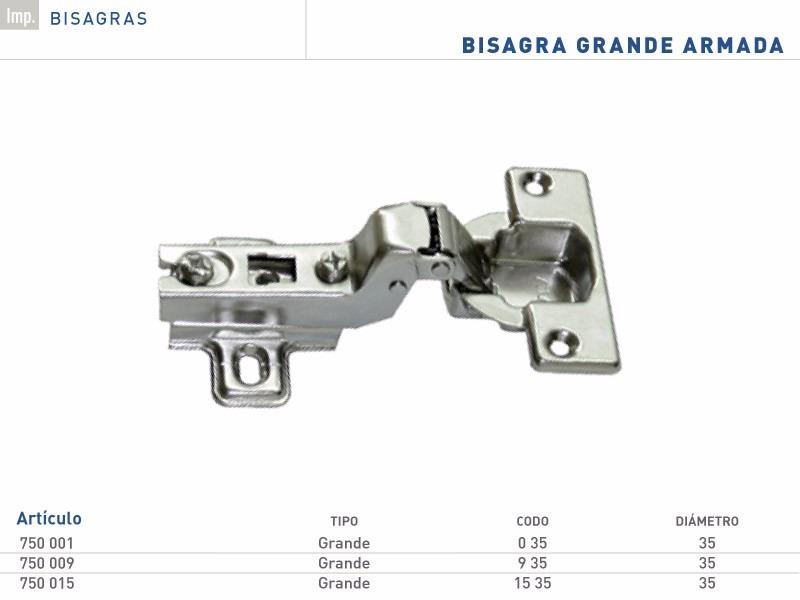 Bisagra Grande 35mm Por 4 U. Herrajes Para Muebles Y Cocina - $ 34 ...