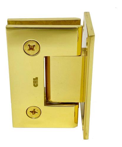 bisagra muro vidrio para puertas de baño crlaurence dorada