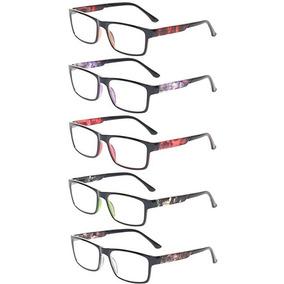 ebb611b99e Gafas De Leer 5 Lectores Paquete De Resorte De La Bisagra Re