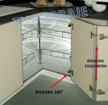Bisagras angular esquinera x par cocinas closets bs 1 - Bisagra 180 grados cocina ...
