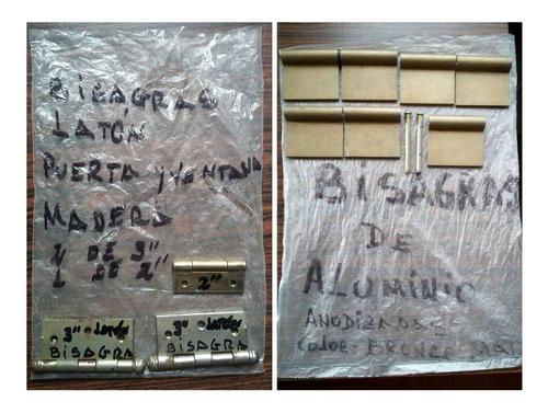 bisagras de aluminio y de latón