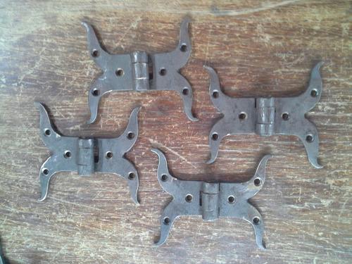 bisagras en hierro forjado,pavonadas,varios modelos,consulte