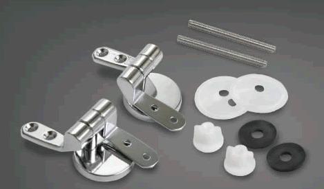 Bisagras metalicas herrajes para tapa asiento de inodoro for Repuestos para mochila de inodoro ferrum