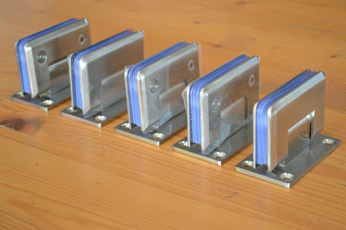 Bisagras muro cristal para cancel o puertas cristal for Puerta cristal templado