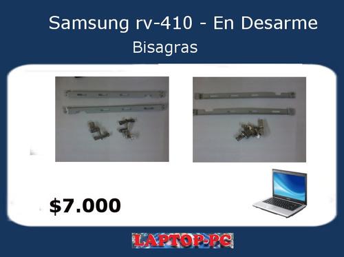 bisagras samsung rv410 en desarme