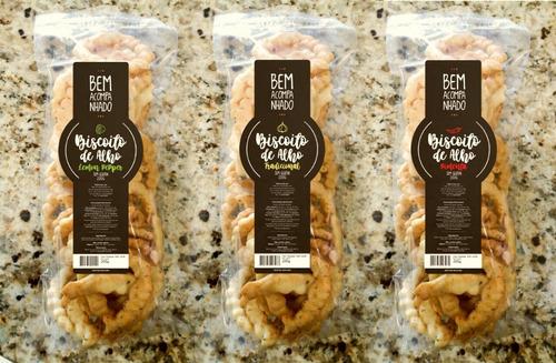biscoito de alho tradicional sem gluten