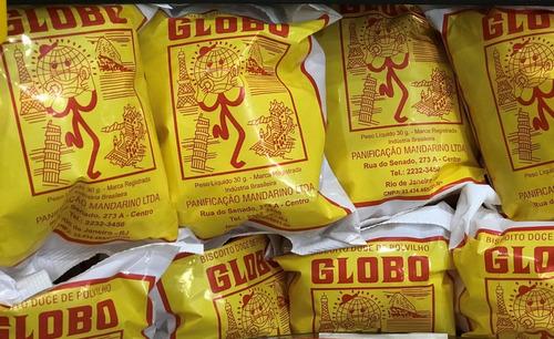 biscoito doce o globo 50 pacotes sem conservantes