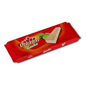 Biscoito Wafer Limão Duchen Atacado Caixa Com 40 Pacotes