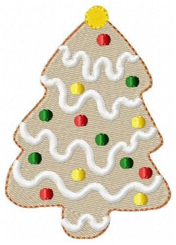 biscoitos de natal 001 - coleção de matriz de bordado