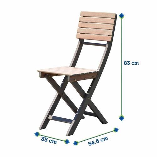 bistro juego de mesa y 2 sillas para balcón plegable