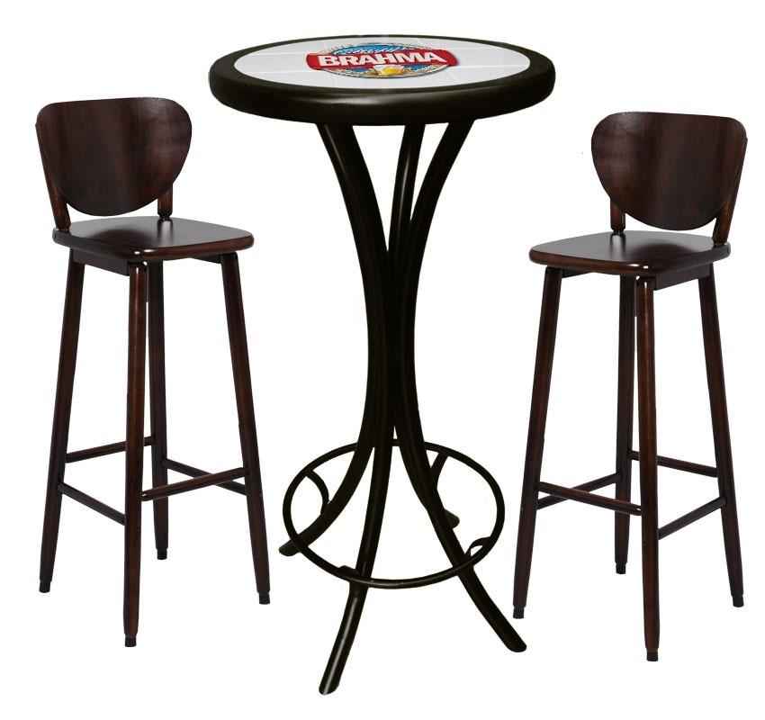 Bistro mesa alta banquetas brahma chopp cervejas bar r for Mesa alta madera bar