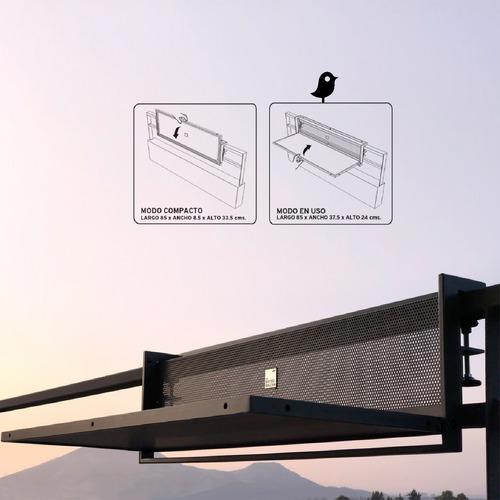bistrobalcon® mesa plegable para barandas de balcon 85 cm.