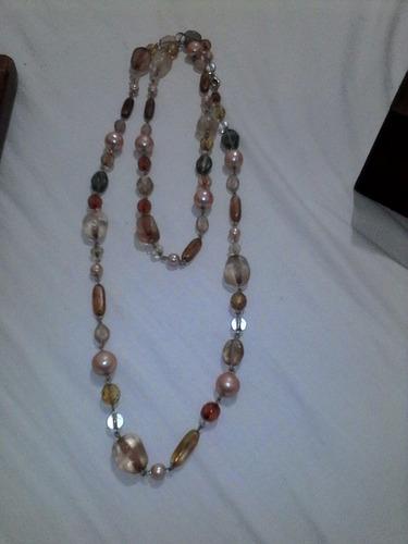 bisutería, collar en colores cobrizos y combinable, hermoso.