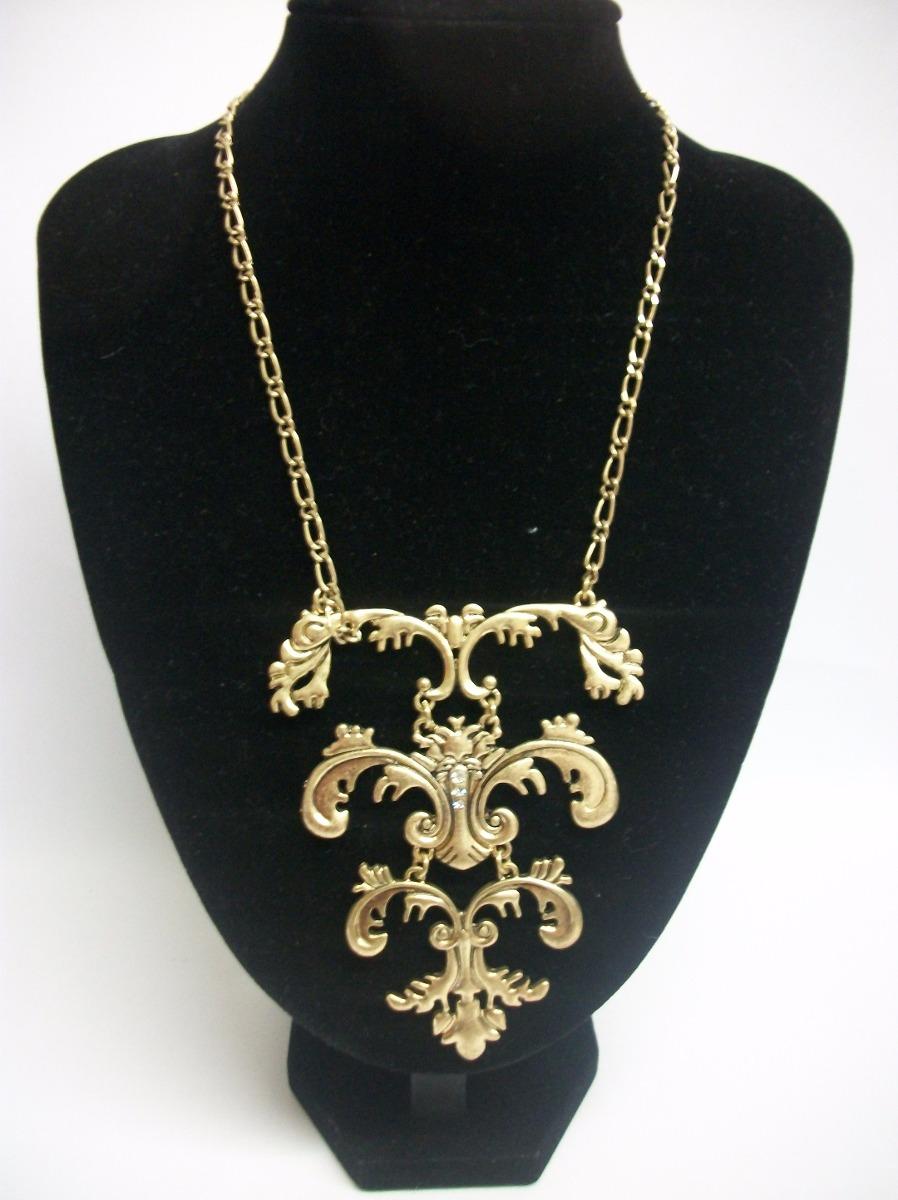 9f1d5b30d807 Bisutería Fina  Collar Largo Dorado Elegante Hermoso -   190.00 en ...