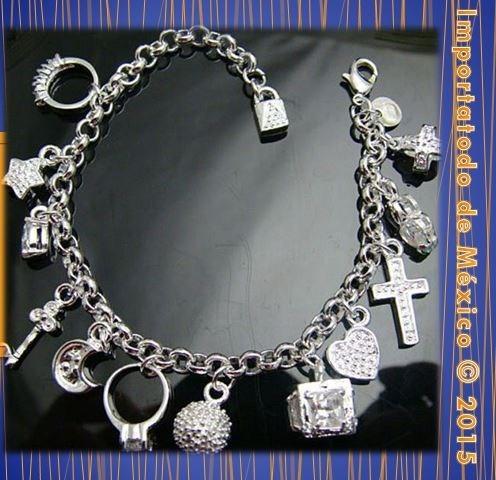 Bisuteria fina joyeria pulsera pulseras ba o plata con for Banos electroliticos para joyeria
