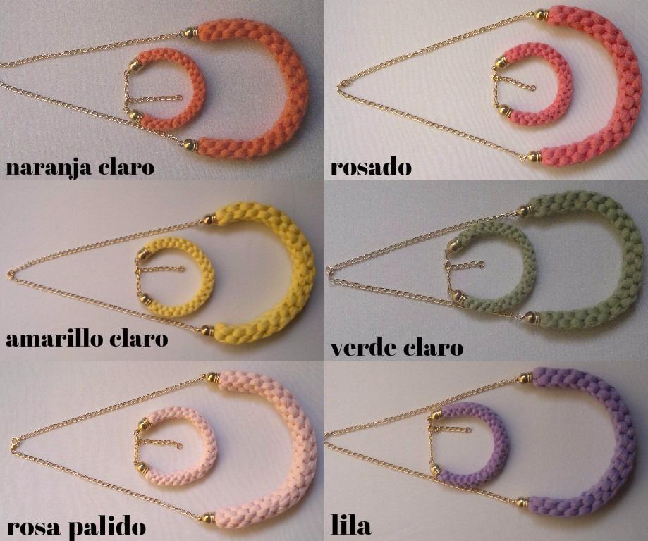 bisuteria juego de 10 collares y pulseras moda 2016 al mayor