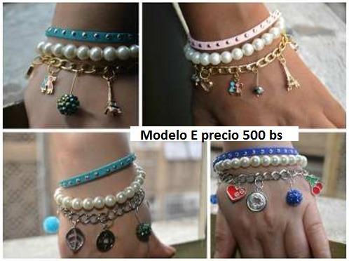 bisutería pulsera de moda (tejido, perlas, cuero, cadenas)!