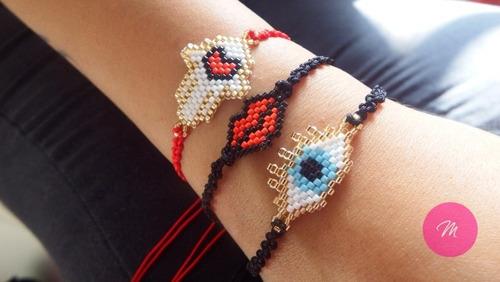 bisuteria pulseras en miyuki original.
