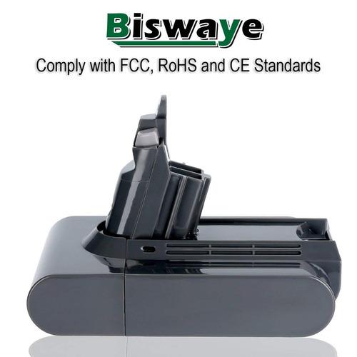 biswaye 21.6v 2200mah litio batería para dyson 21.6v