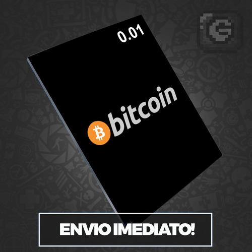bitcoin 0.01 btc - valor r$184,90 vendemos múltiplos de 0,01