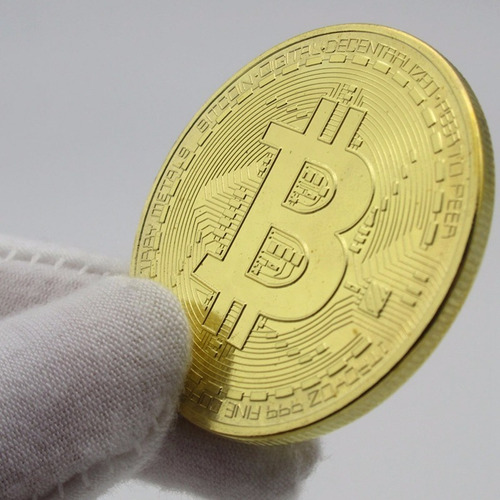 bitcoin moneda conmemorativa coleccionable física oro .999