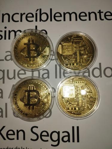 bitcoin moneda dorado btc criptomoneda + estuche ( no taps )