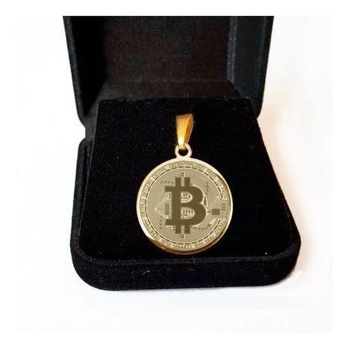 bitcoin pingente folheado a ouro saf11