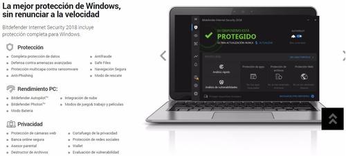 bitdefender internet security antivirus 10 pc 2 años oficial