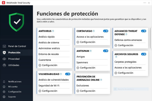 bitdefender total security 2019 1 equipo x 1 año + 5 meses