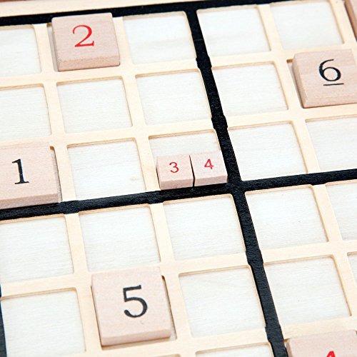 bits and pieces - tablero de juego de sudoku de madera de