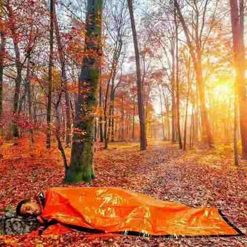 bivvy vivac cobertor bolsa dormir supervivenciaº