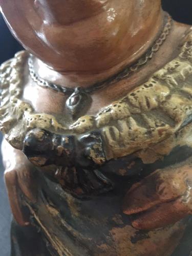 bizcochera antigua de cerámica esmaltada sellada