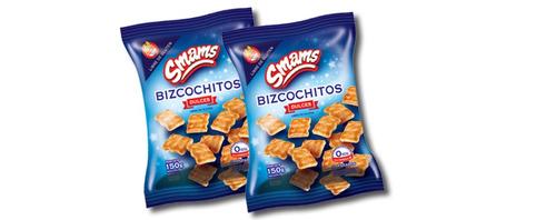 bizcochitos dulces libre de gluten smams x 2 cajas
